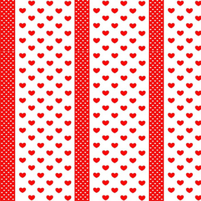 Red-spriped-heart-patterns