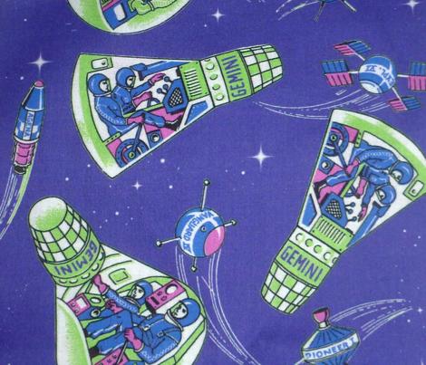 Retro Rockets stars purple