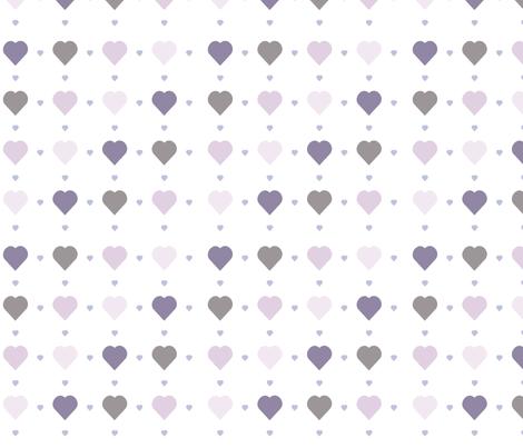 Purple and grey hearts wallpaper theten12 spoonflower for Purple and grey wallpaper