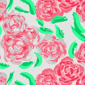 Rose Garden in Grey