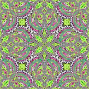Fractal Ruffles and Leaves, Green