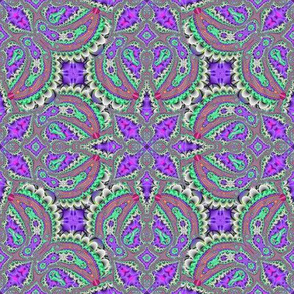 Fractal Ruffles and Leaves, Purple