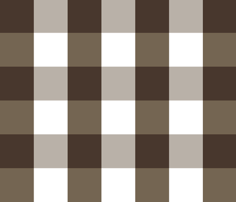 Gingham ~ Chocolat, Rocaille, Penistone Crag and White