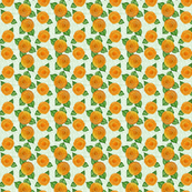 Marigolds with green crosshatch