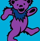 Purple Dancing Bear-blue turquoise