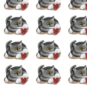 Grey_Kitten_Plays_with_a_Fluffy_Heart_Toy__-_Spoonflower