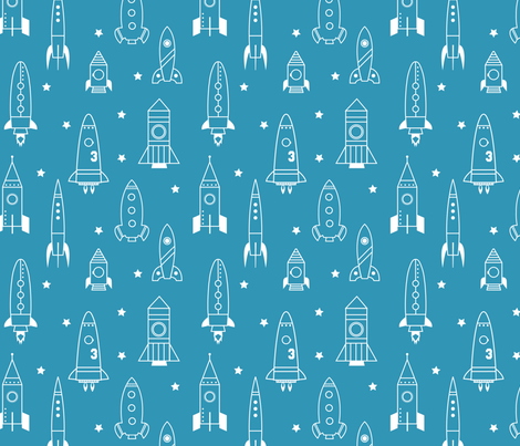 Rocket science fabric jenimp spoonflower for Rocket fabric