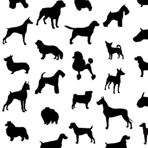 Mod-Dog Silhouettes Black on White Large Scale