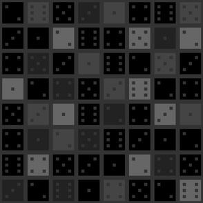 Black and Grey Pixel Dice