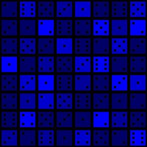 Blue Pixel Dice