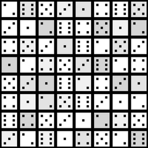 White and Grey Pixel Dice