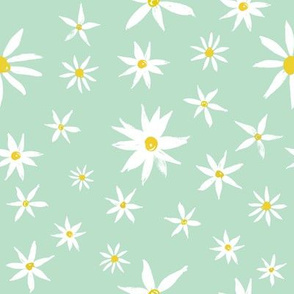 Daisy on mint