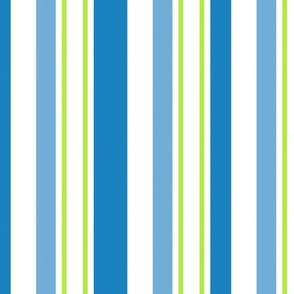 Mackinac Stripes Blue Green And White