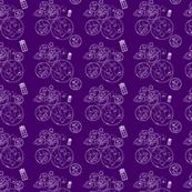Geometric Purple Police Box