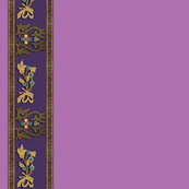 Kazak Bejeweled Border Print