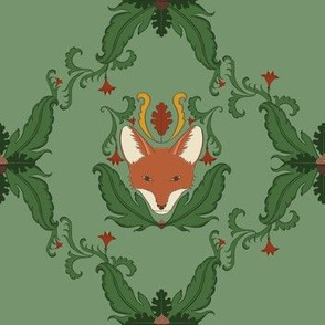 Simple Fox Damask