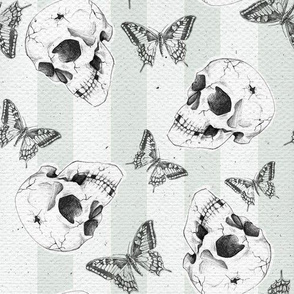 Skulls and butterflies