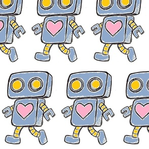 Cute Love Robot (Blue)