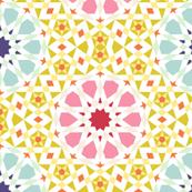 decagon spring floral tiling