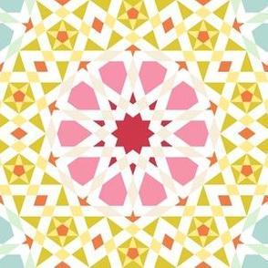 decagon star : spring floral tiling