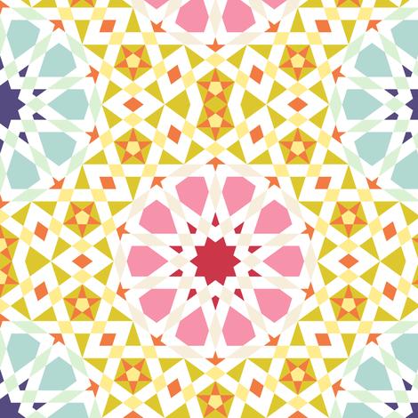 spring floral tiling