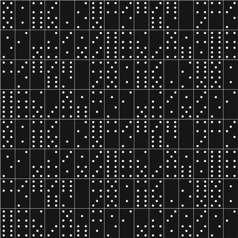 Domino Universe (White on Black)