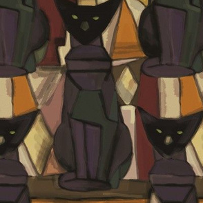 oriental cat cubism