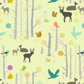 Woodland Deer Pastel