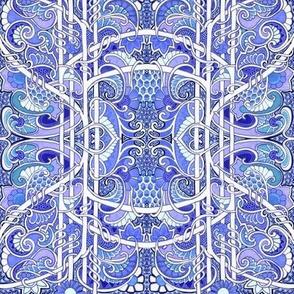 Dizzy Blue Paisley