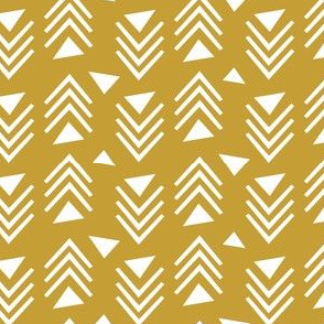 Chevrons & Triangles - Gold