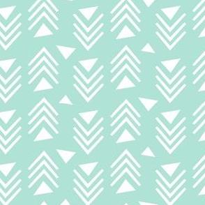 Chevrons & Triangles - Mint