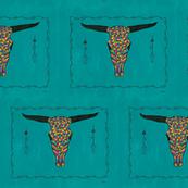 Turquoise Longhorn Skull