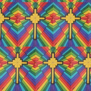 Geometric Rainbow Cross
