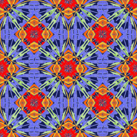 Ikat-style Circles and Diamonds
