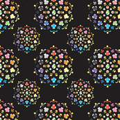 Rainbow Yoshi Flower in Deep Gray
