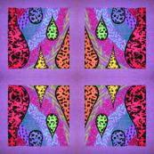 purple textured drops