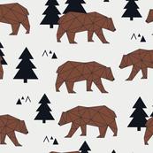 Geometric Grizzly Bear