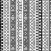 mudcloth : greyscale