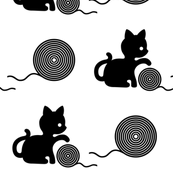 Kitten with wool