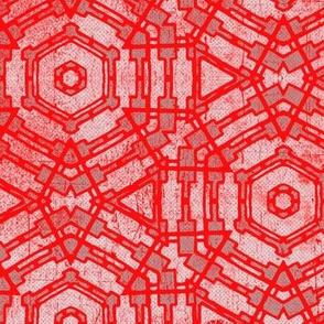 Vintage red tiles