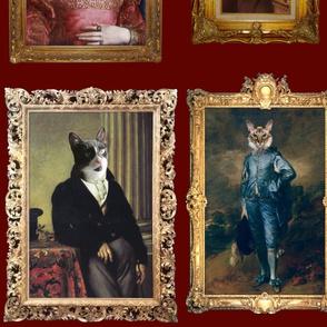 Pet Portrait Gallery - Large - Dark Red