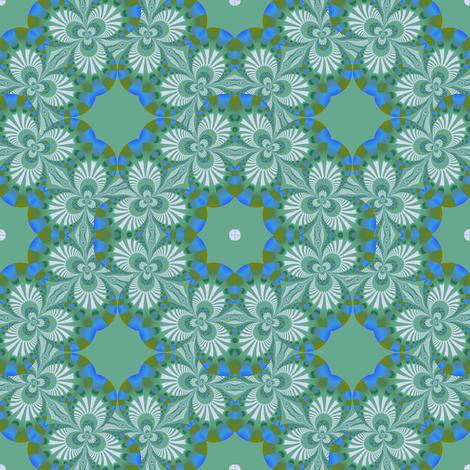 Green and White Fractal Trefoils