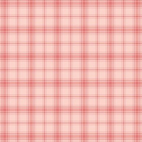 small coral hiking plaid