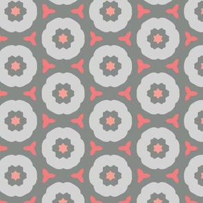 Abstract Floral Design in Grays & Pinks