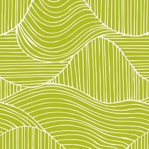Dunes Geometric Waves Green