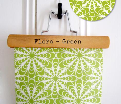 Flora Geometric Floral Green