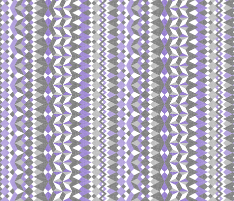 Across the  Lavender Valley - Vertical Stripes