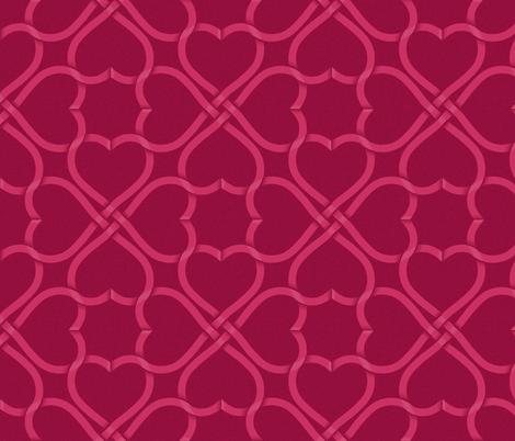 celtic knot ribbon hearts - dark background