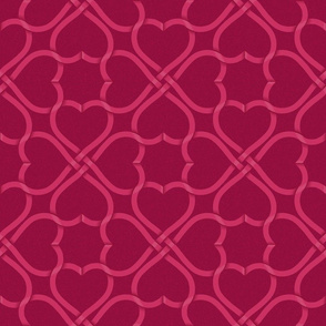 celtic knot ribbon hearts - dark background