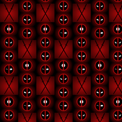 Faces of Deadpool-Red fade background